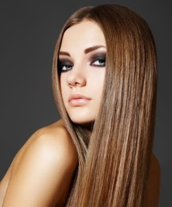 straightened hairstyle