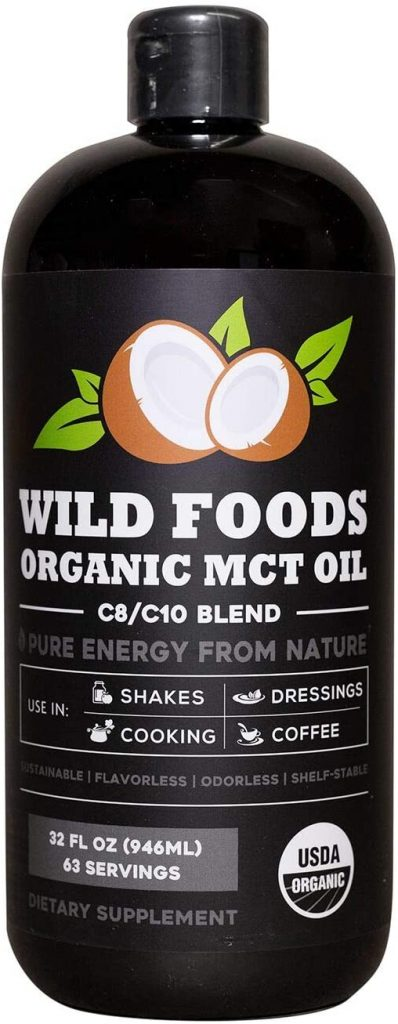 Organic MCT Oil C8/C10 Blend from 100% Coconuts